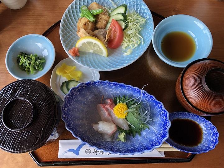 平田埋立地(京都・伊根)の釣り場情報 食事 グルメ 舟屋食堂