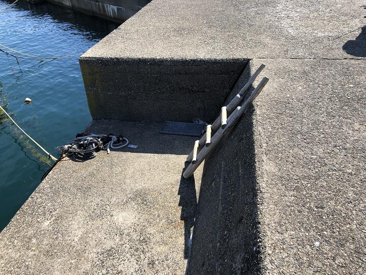 小橋漁港(京都・舞鶴)の釣り場情報 大波止5