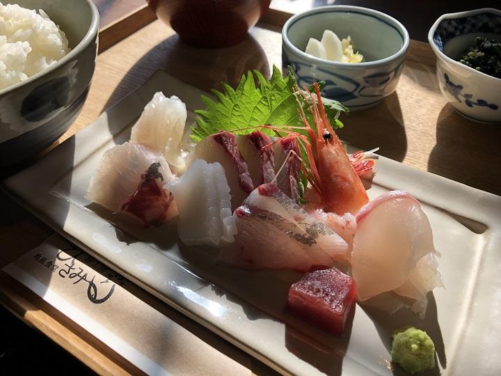 地産食堂 味工房 ひさみの海鮮ランチ。京都・京丹後の釣り場、間人漁港