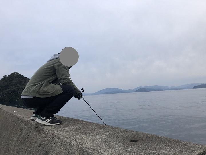 京都の釣り場、伊根網干場でデイエギングでアオリイカを狙う