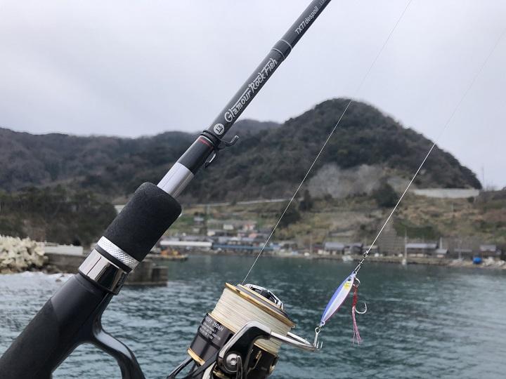 京都・伊根の釣り場、蒲入漁港でデイエギング スーパーライトショアジギング