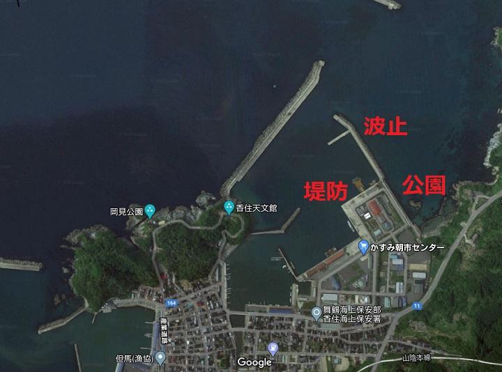 香住東港(兵庫・香住)の釣り場情報 西側地磯