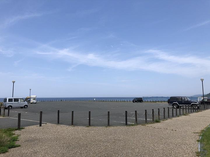 八丁浜シーサイドパーク(京都・京丹後)の釣り場情報 駐車場